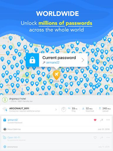 WiFi Haritası - Ücretsiz Şifreler