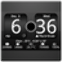 icon FlipClock BlackOut Widget 4x2